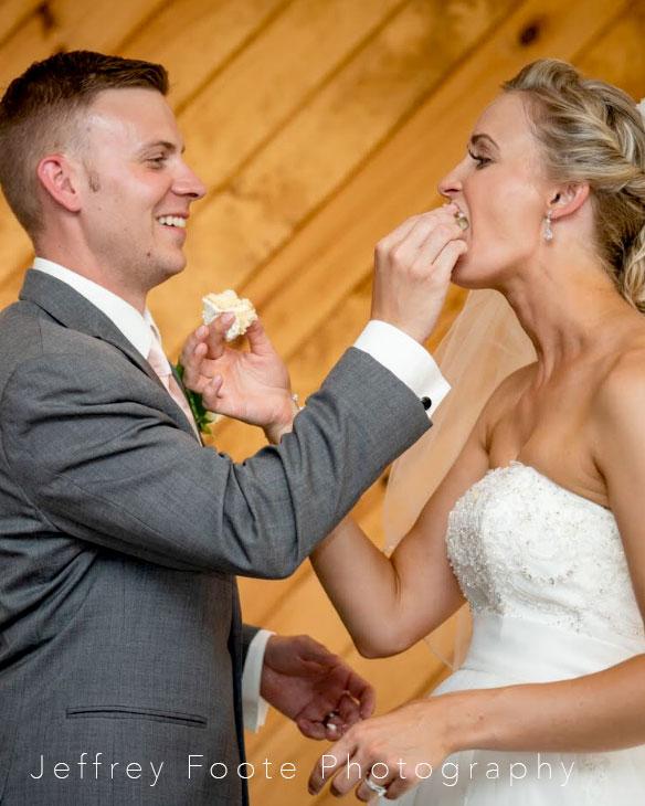 Harmony Club, adk, cake, first bite, wedding, buttercream, reception, cake slice, NY, upstate, the fancy cake box