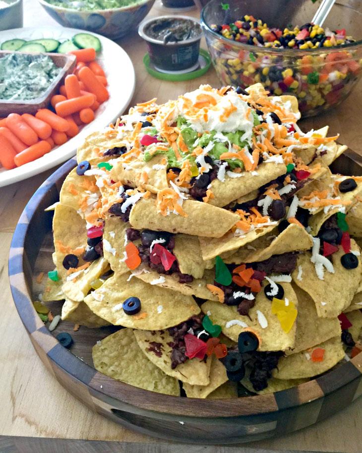 nachos, cake, chocolate, chips, buttercreeam, gummies, 3d, superbowl, lake placid, NY, the fancy cake box,