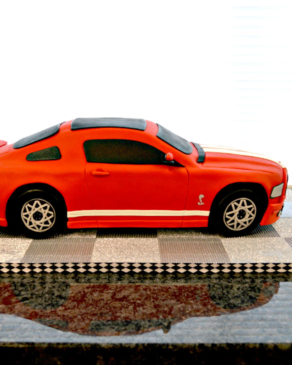 gt 500. cake, 3d cake, car, cake art, red, the fancy cake box, NY, Upstate,
