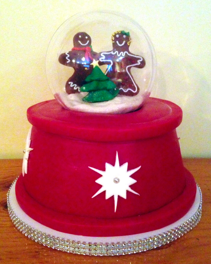 snow, glove, cake. gingerbread, man, 3d, red, christmas, tree, lake Placid, NY, the fancy cake box