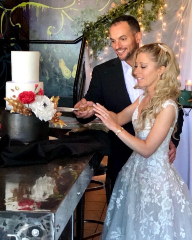 adirondack, wedding, besoke, black, boho, gum paste flowers, designer cake, elegant, NY, wedding, the fancy cake box